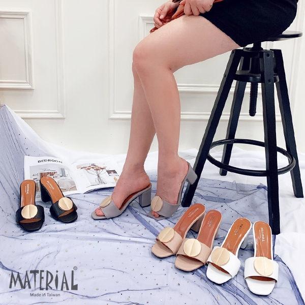 跟鞋 圓形金屬方頭跟鞋 MA女鞋 T5597