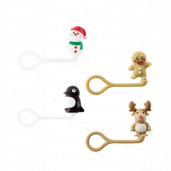 Style Q Cord Ties聖誕節造型公仔線材收納束帶束繩