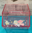 【震撼精品百貨】Little Twin Stars KiKi&LaLa_雙子星小天使~三麗鷗雙子星掀蓋式透明置物盒-粉#00882