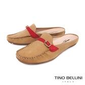 Tino Bellini 巴西進口休閒莫卡辛MIX穆勒平底鞋 _ 淺駝 A83046 歐洲進口款