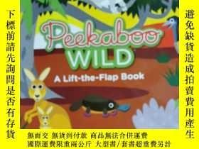 二手書博民逛書店peekaboo罕見wild a lift the flap book 兒童讀物 英文版 3-7歲Y42402