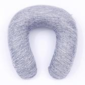鴨嘴型記憶彩棉頸枕 藍