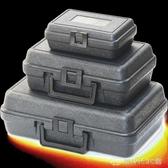 PE塑料黑色小箱子家用五金工具包裝儀器設備器材防護盒實惠塑膠箱 創時代YJT