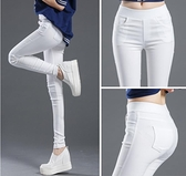 內搭褲 新款打底褲女外穿白色夏秋款高腰薄款彈力緊身鉛筆小腳長褲子  店慶降價