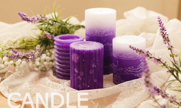 里和家居 l 手工香氛蠟燭組 薰衣草 撞色系列 蠟燭禮盒