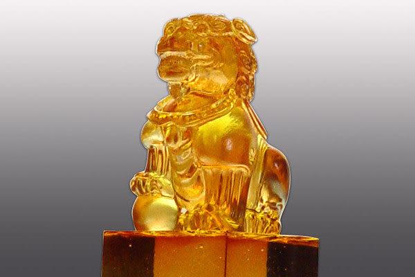 居家開運水晶琉璃 吉祥印章-勝境鼎足-文鎮 玉璽◆購物內容:一件◆免運費送到家