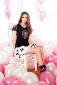 【 BETTY BOOP 】貝蒂春夏品牌服飾特賣~四片花瓣接蕾絲鬆緊褲裙  NO.BS14902