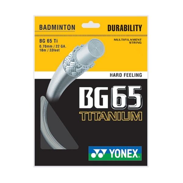 Yonex Bg-65 Ti Badminton String [BG65TI-011] 羽線 鈦金屬 日本 優乃克 白