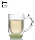 【HG】雙層玻璃馬克杯矽膠底(綠)/300ml (現貨+預購)