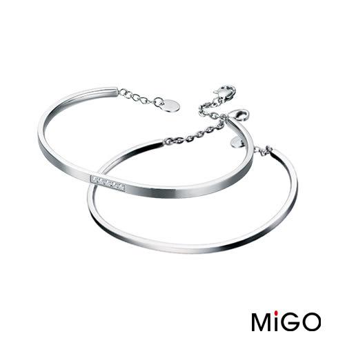 MiGO‧晶漾白鋼手鍊