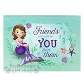 〔小禮堂〕迪士尼 蘇菲亞公主 橫式空白頁上翻線圈筆記本《綠紫.人魚裝》剪貼本 4714581-82489