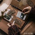 復古皮質文藝DIY手工活頁相冊本 創意粘貼式覆膜旅游紀念冊 千千女鞋