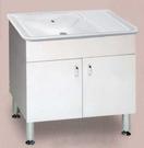 【麗室衛浴】陶瓷固定式洗衣檯 浴櫃組 P-308  尺寸90*46