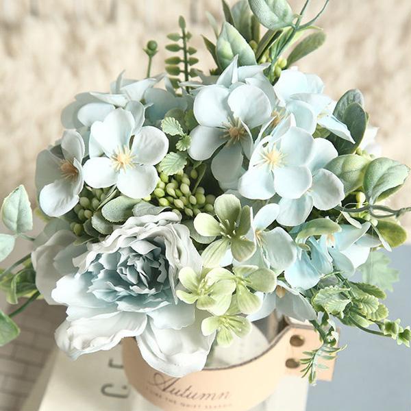 【BlueCat】仿真花 小香果 山茶花插花材料 拍照道具 插花 花藝 花材 花牆