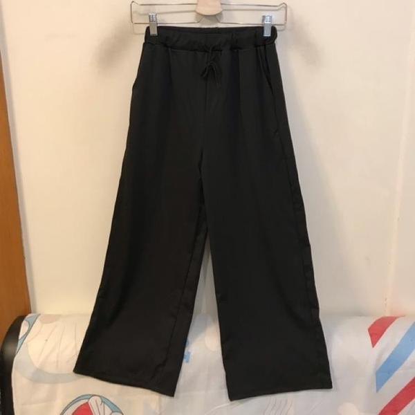 韓版百搭基本款高腰顯瘦寬褲(M號/777-212)
