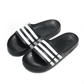 ADIDAS 拖鞋 DURAMO SLIDE 黑 白線 防水 運動 男女(布魯克林) G15890