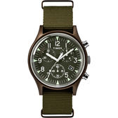 TIMEX 天美時 MK1 三眼計時 手錶 (TXTW2R67800)  軍錶/橄欖綠