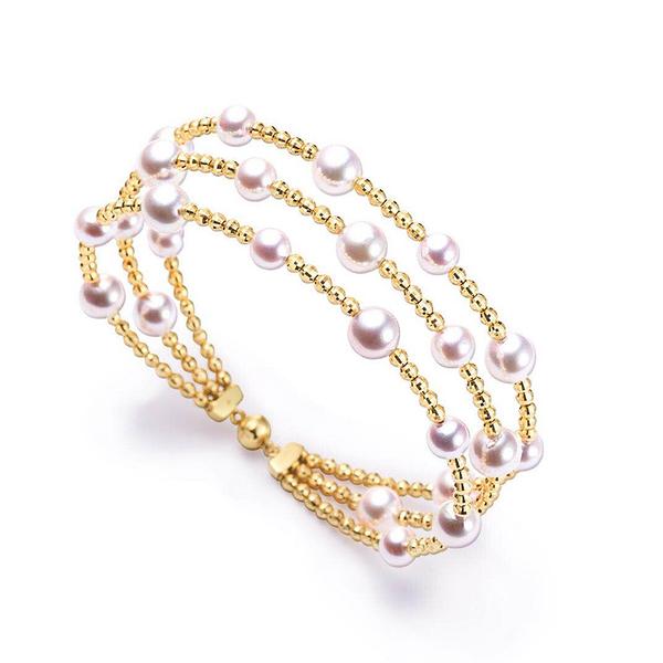 【光彩珠寶】日本18K金Akoya珍珠手環