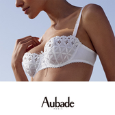 Aubade-BAHIA&MOI有機綿B-E薄襯內衣(白)PY經典