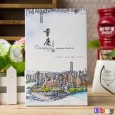 貝貝居明信片手繪明信片印象風景風光特色賀卡12 張入