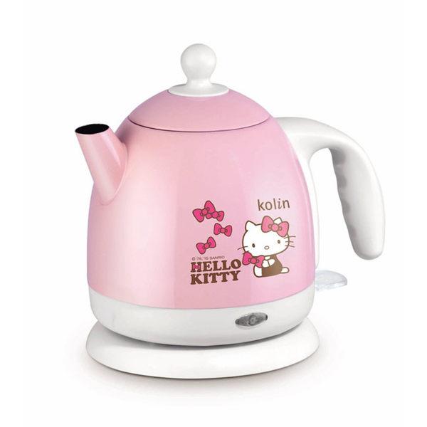 《歌林Hello Kitty 》1.0L不鏽鋼快煮壺KPK-MNR1041壺身及內蓋皆採用304不鏽鋼材質,耐污清洗方便