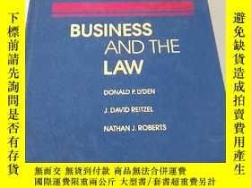 二手書博民逛書店business罕見and the law 商業和法律Y1940
