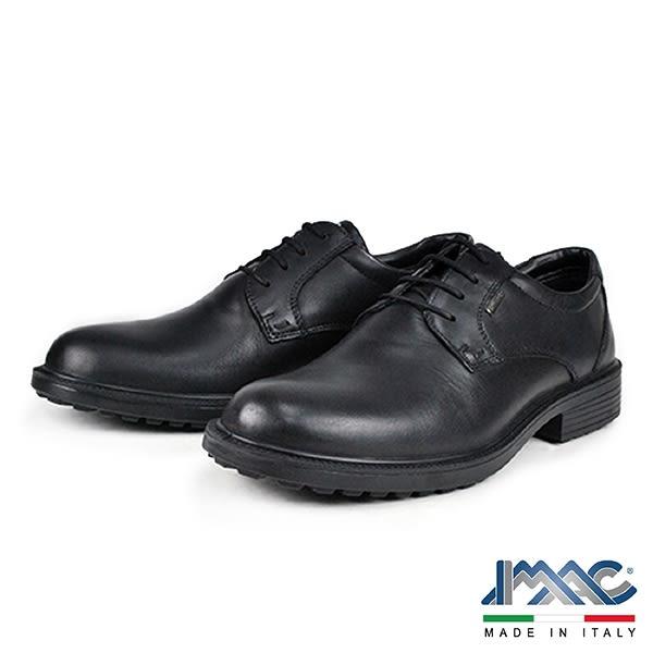 【IMAC】義大利真皮輕量減震氣墊休閒紳士鞋  黑色(80228-BL)