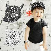 韓國牛角造型星星兒童軟簷鴨舌帽 童帽 帽子