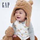 Gap嬰兒 可愛兩面穿印花針織背心 708884-白色