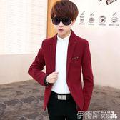 西裝外套男青少年春季小西裝男修身韓版學生休閒西服男士青春流行薄外套單西 伊蒂斯女裝
