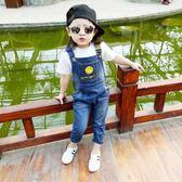 童裝女童牛仔背帶褲1-234歲兒童寶寶純棉長褲裝褲子   伊鞋本鋪