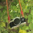 zeku相機背帶復古植鞣皮相機肩帶牛皮手...