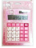 ♥小花花日本精品♥Hello Kitty粉色星星坐姿吸允手指滿版大螢幕計算機上學辦公療癒系文具-60148902