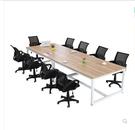 會議桌長桌簡約現代長方形職員長條辦公桌椅員工培訓洽談桌工作台CY 酷男精品館