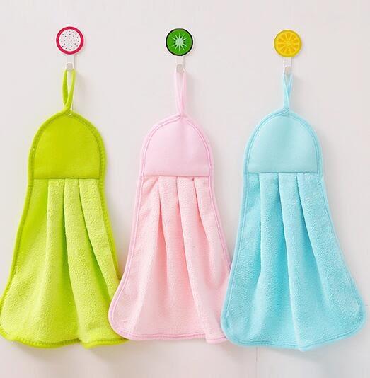 【TT】廚房可掛式珊瑚絨擦手巾 強吸水不掉毛不沾油抹布洗碗布