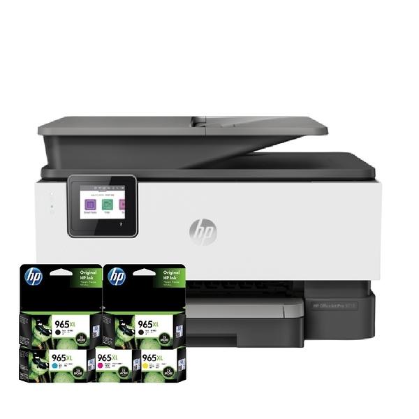 【搭965XL原廠墨水匣二黑三彩】HP OfficeJet Pro 9010 All-in-One 印表機 登錄送禮卷