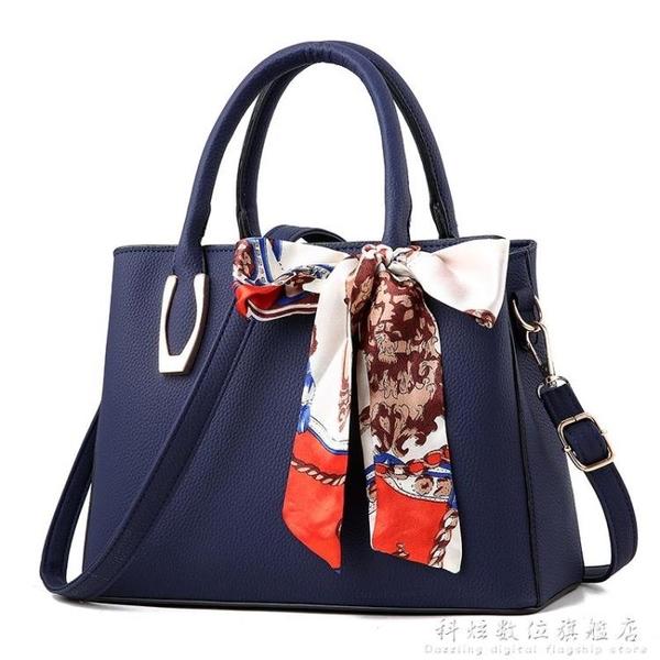 手提包包新款潮中年女包單肩斜背包包女士百搭大容量手拎媽媽包 聖誕節免運