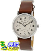 [105美國直購] Timex Men s 男士手錶 Weekender T2P495 Brown Leather Analog Quartz Watch