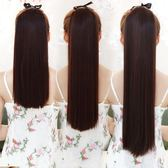 限定款假髮 韓系假髮馬尾辮子女生中長短款直髮自然逼真綁帶式假髮尾一片式接髮片