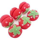 Kiret 髮捲 柔軟草莓髮捲球6入