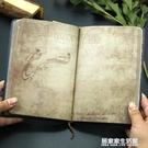 a5敦煌復古手帳本創意古風空白手賬筆記本子網格日記學生記事本 居家家生活館
