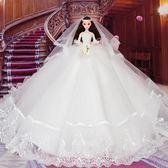 芭比娃娃仙仙婚紗芭比娃娃套裝3D真眼玩具女孩公主大禮盒生日新年禮物禮盒裝【全館85折】