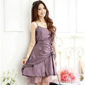 中大尺碼~甜美花朵吊帶禮服洋裝(F~3XL)
