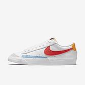 Nike Wmns Blazer Low 77 [DC4769-105] 女鞋 運動 休閒 經典 復古 穿搭 白 紅