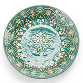 日本 摩洛哥飯盤 20.5cm 綠