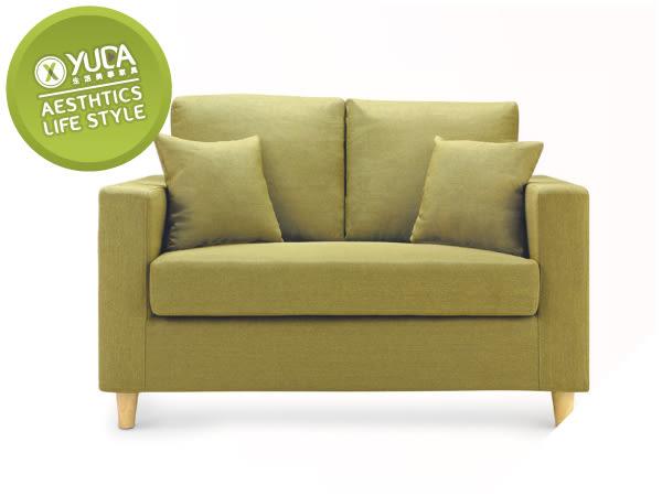 沙發【YUDA】傑西 獨立筒坐墊 亞麻布 沙發椅 雙人 二人 布沙發/沙發椅(附抱枕2個) I8X 602-202
