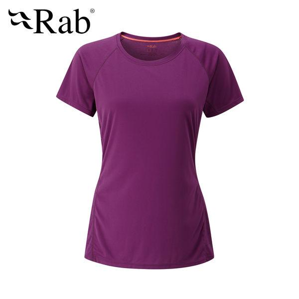 英國 RAB Aerial Tee 銀鹽抗菌短袖排汗衣 女款 醬果紫 #QBU45
