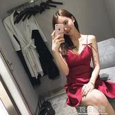 2018夏季新款時尚氣質禮服性感夜店女裝潮露背吊帶抹胸連身裙  莉卡嚴選