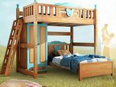 高架床兒童上鋪床實木高架床成人省空間多功能組合床上床下桌DF 全館免運