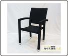 {{ 海中天休閒傢俱廣場 }} G-52 戶外時尚 編藤桌椅系列 46-9 扶手餐椅